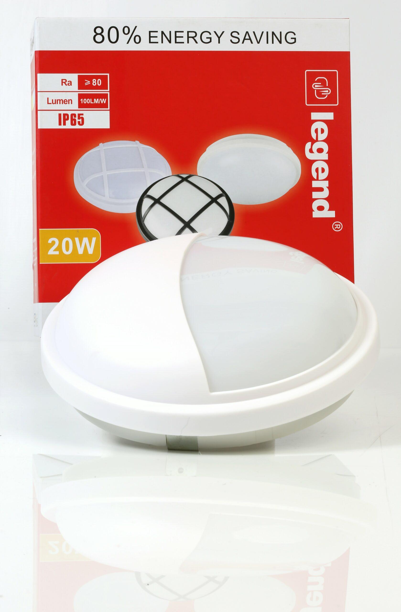20W LED OUTDOOR BULKHEAD WATERPROO -7823-WH