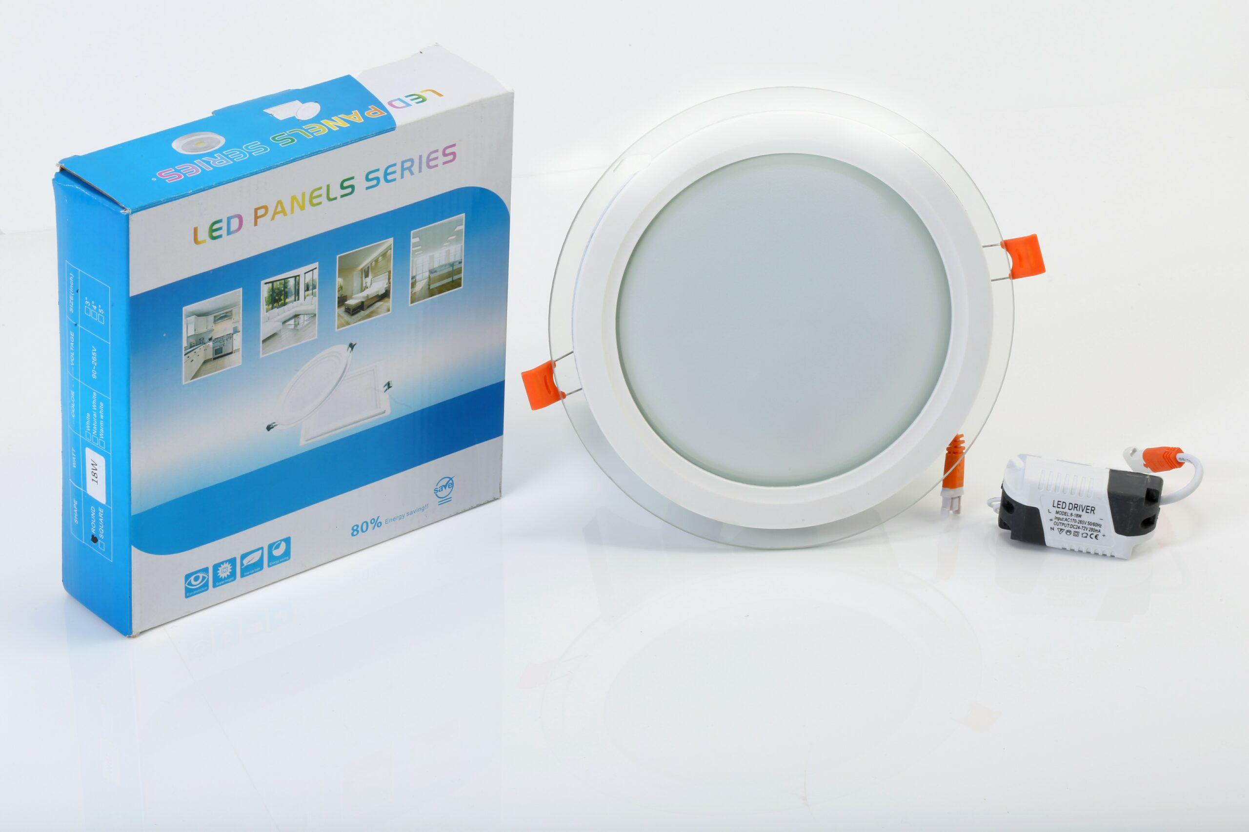 6W LED GLASS PANEL